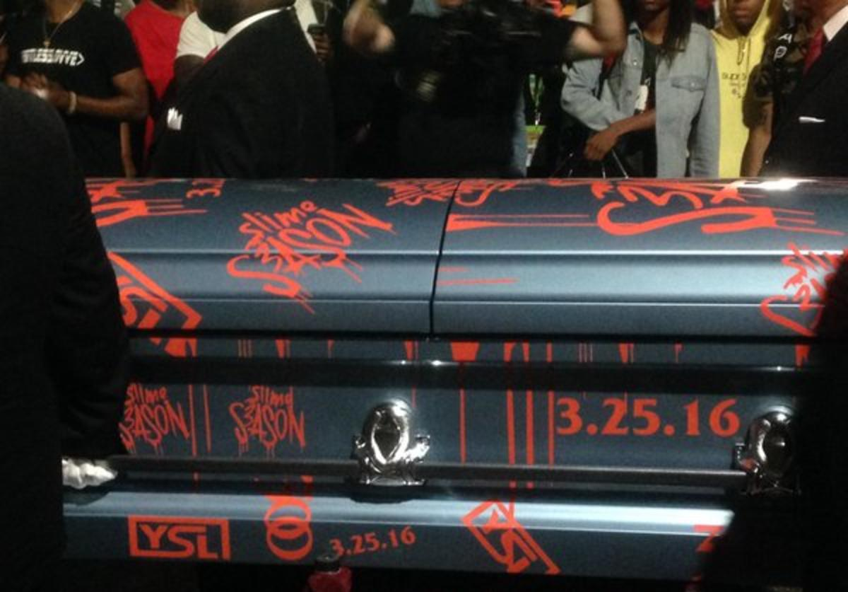 "Young Thug's ""SS3"" casket announcement"