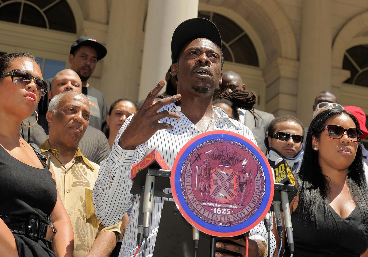 Pete Rock at  a press conference in NYC