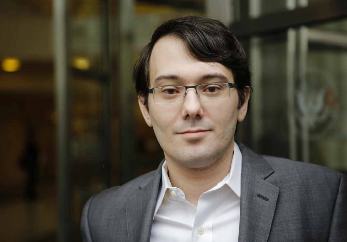 Martin Shkreli appearing in court on multiple fraud charges.