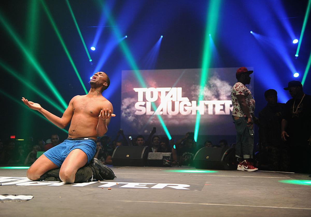 Daylyt performs at Total Slaughter, hosted by Shady Films and WatchLOUD.com at Hammerstein Ballroom on July 12, 2014 in New York City.