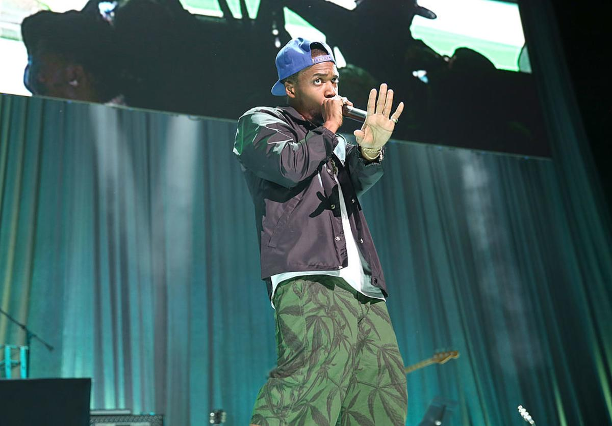 Curren$y performs onstage at the 2013 BMI R&B/Hip-Hop Awards at Hammerstein Ballroom on August 22, 2013 in New York City.