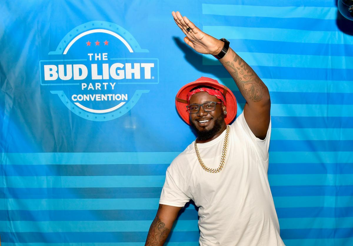 T-Pain at Bud Light party conventions in Boston.
