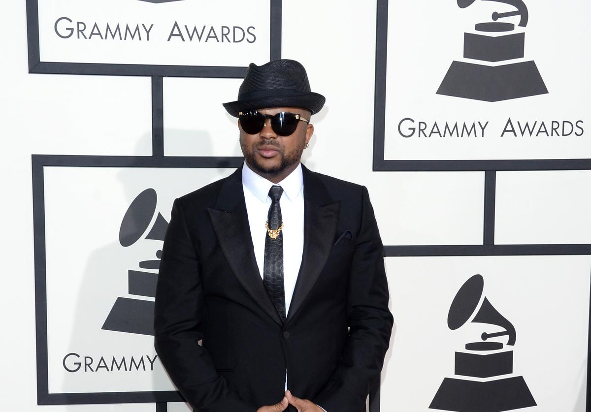 The-Dream at the 56th annual Grammy's arrivals.