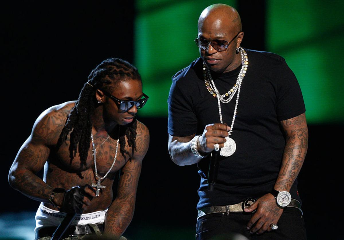 Lil Wayne and Birdman onstage during the 2009 BET Awards held at the Shrine Auditorium on June 28, 2009 in Los Angeles, California.