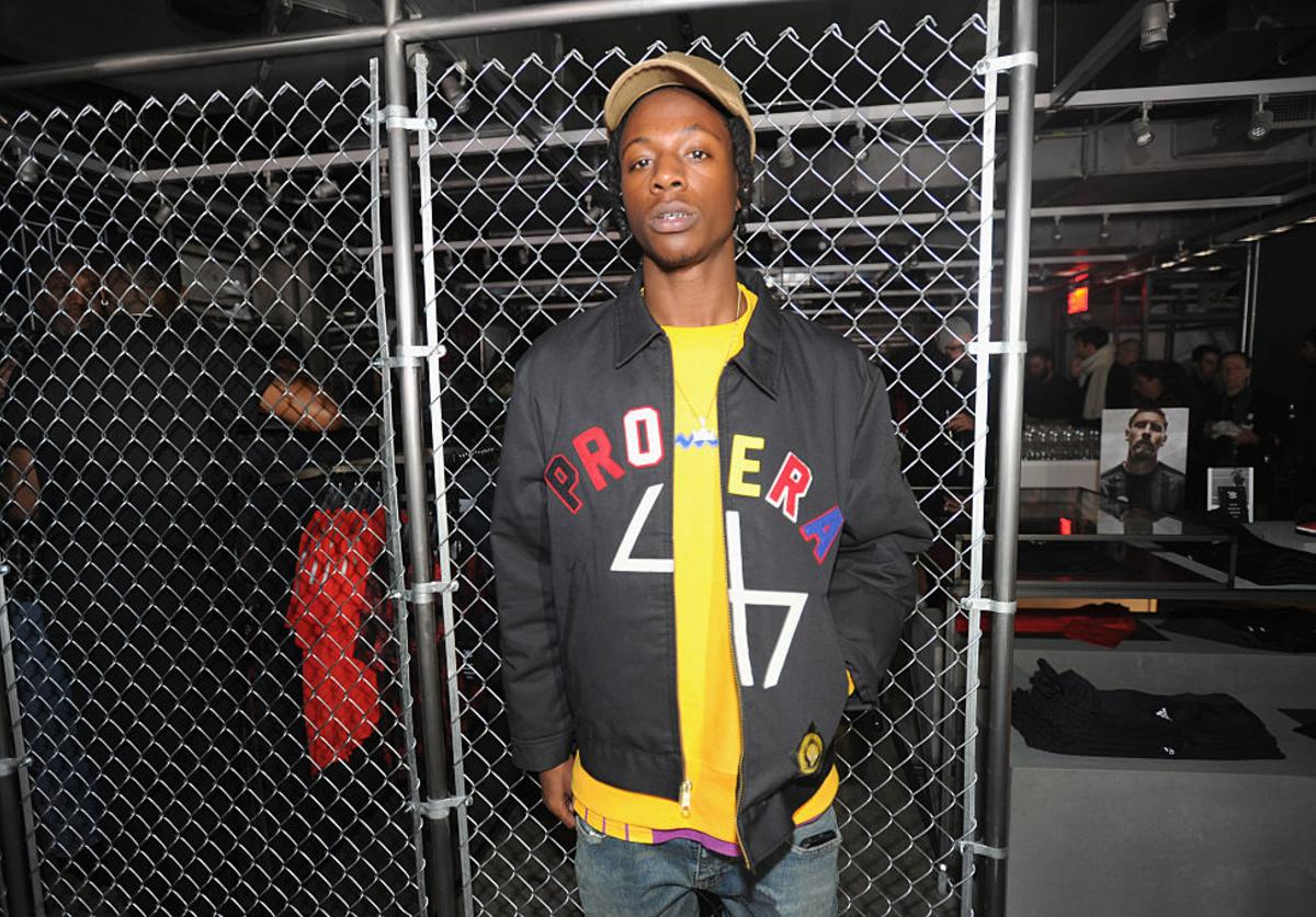 Joey Badass attends the adidas New York Flagship Preview Party on November 29, 2016 in New York City.