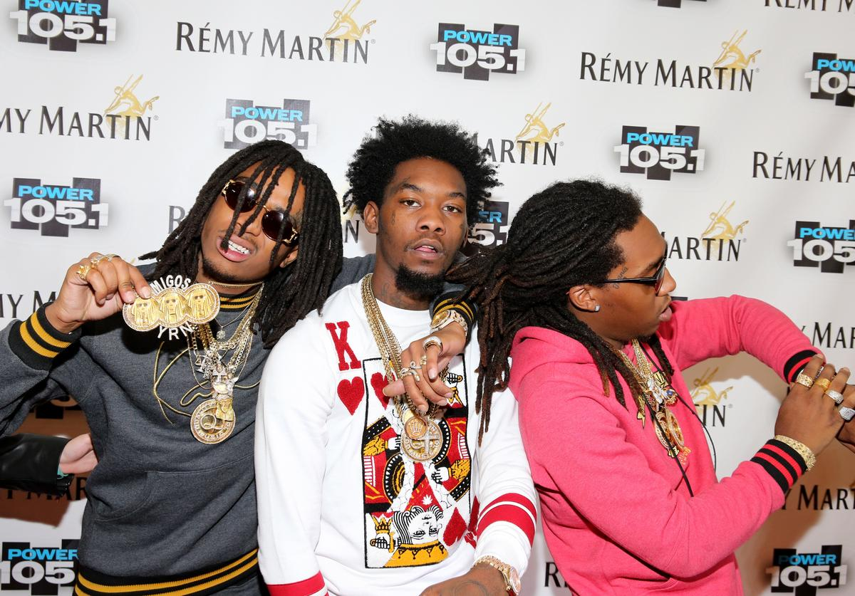 Migos at Power 105's Powerhouse arrivals.