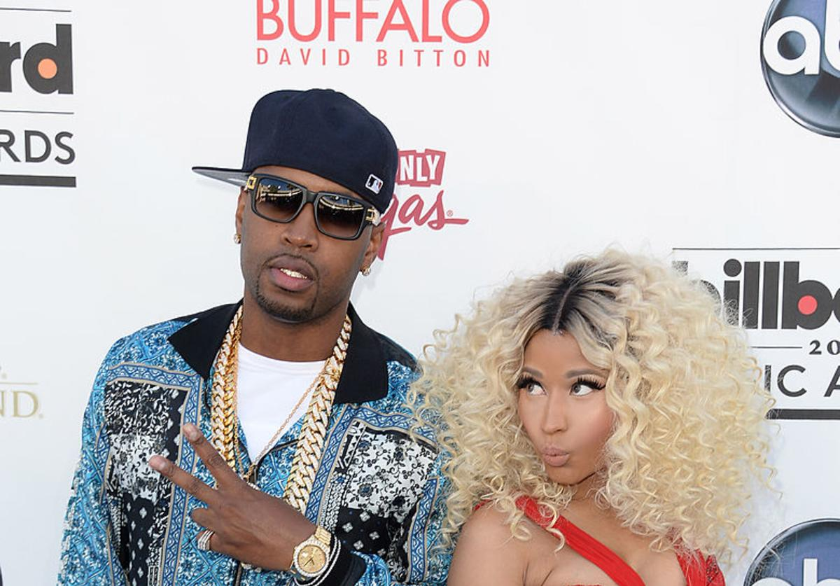 Nicki Minaj and Safaree Samuels arrive at the 2013 Billboard Music Awards at the MGM Grand Garden Arena on May 19, 2013 in Las Vegas, Nevada.