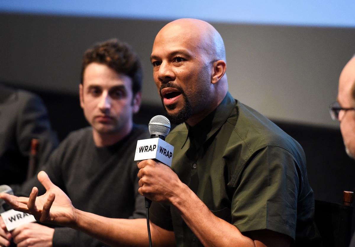 Common speaking at The Wrap's forum.