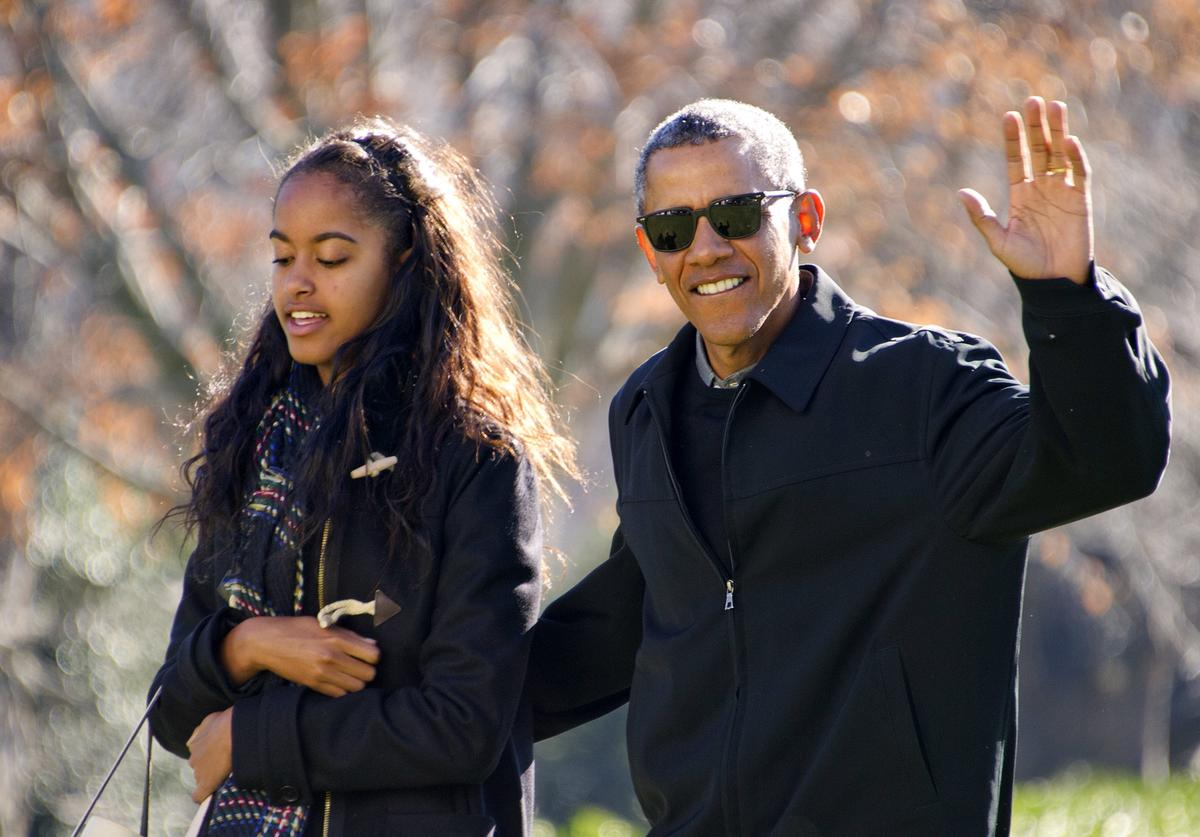 The First Family returns from Hawaii holiday vacation.