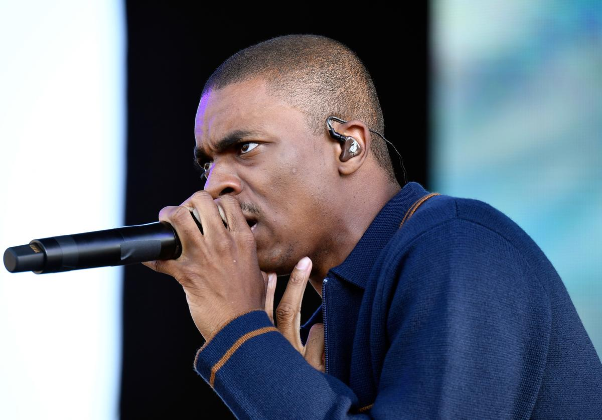 Vince Staples performing at FYF fest.
