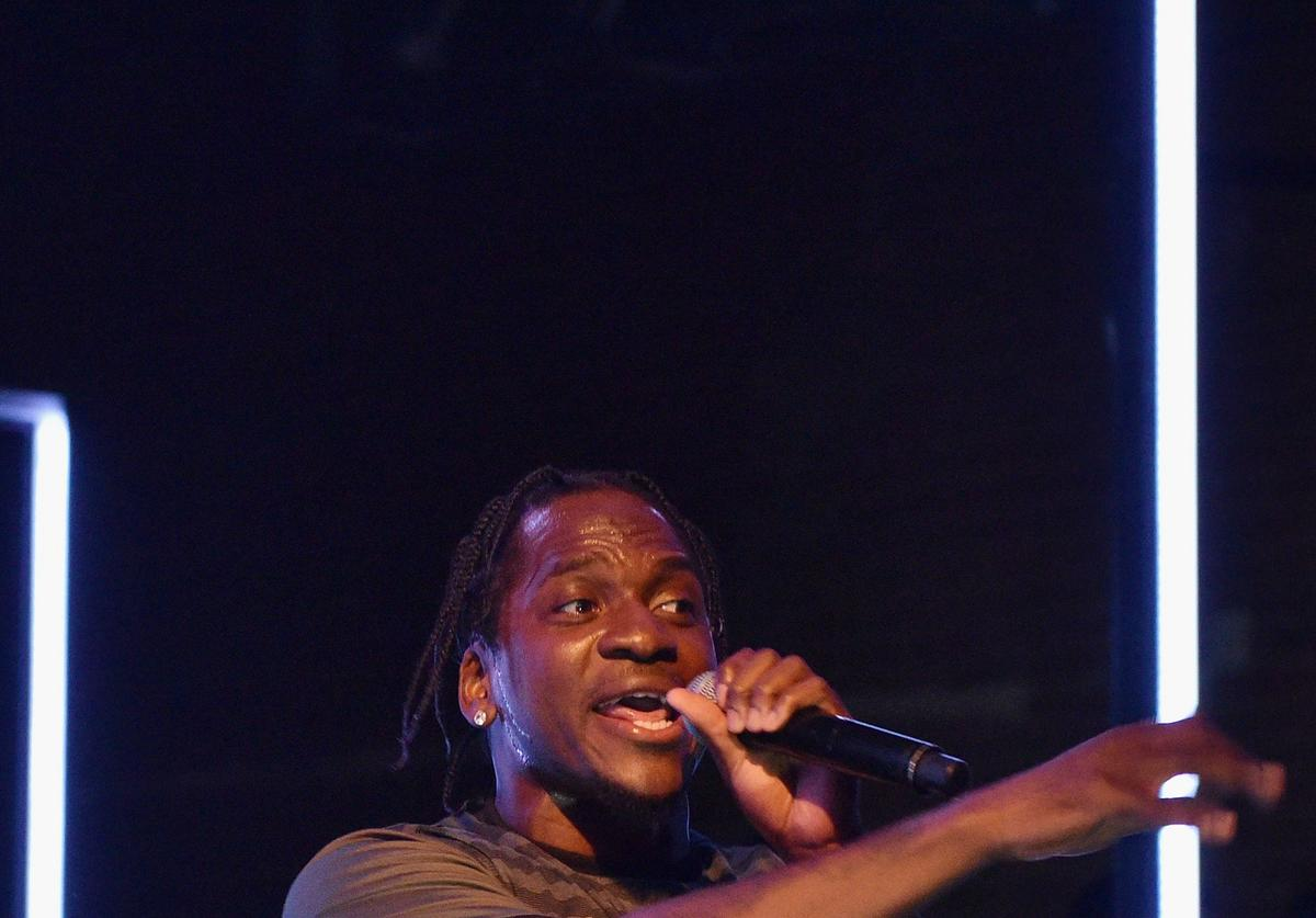 Pusha T performing at Adidas Origionals Last Encore event.