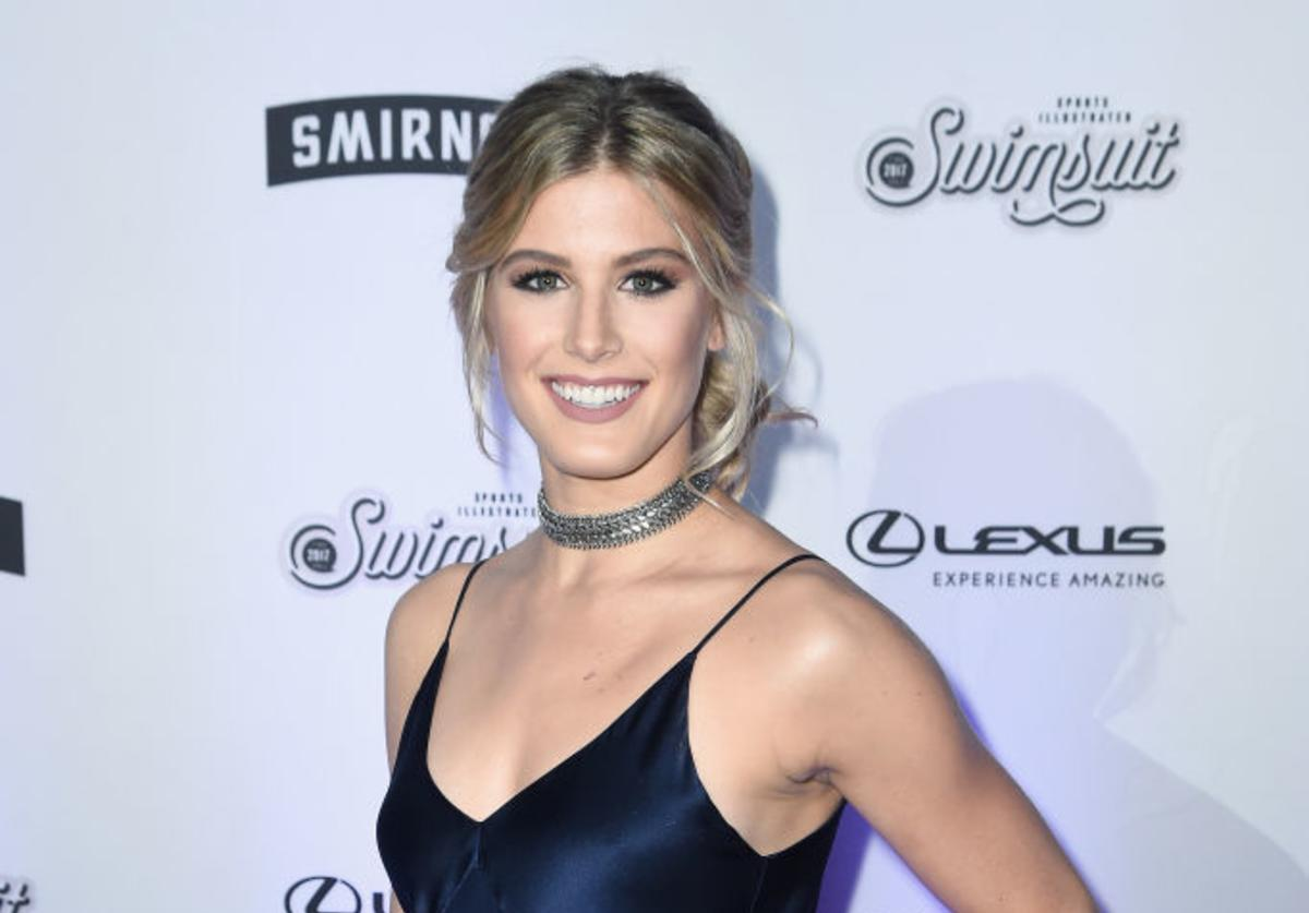 Eugenie 'Genie' Bouchard attends Sports Illustrated Swimsuit 2017 NYC launch event at Center415 Event Space on February 16, 2017 in New York City.