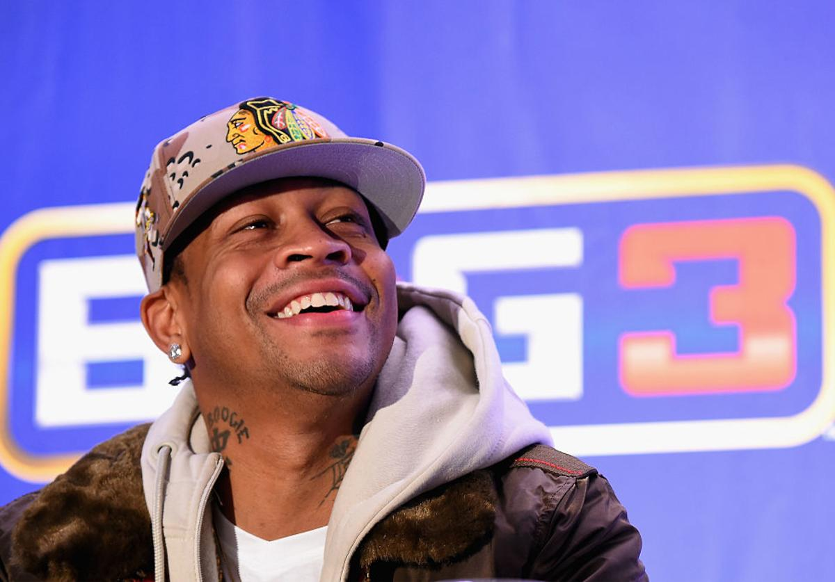 Allen Iverson speaks during a press conference announcing the launch of the BIG3, a new, professional 3-on-3 basketball league, on January 11, 2017 in New York City.