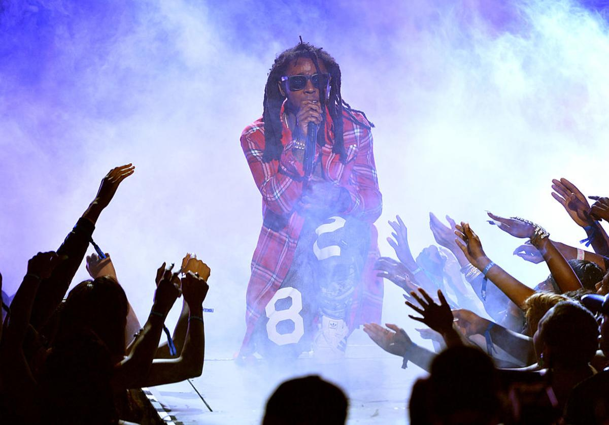 Lil Wayne performs onstage during the BET AWARDS '14 at Nokia Theatre L.A. LIVE on June 29, 2014 in Los Angeles, California.