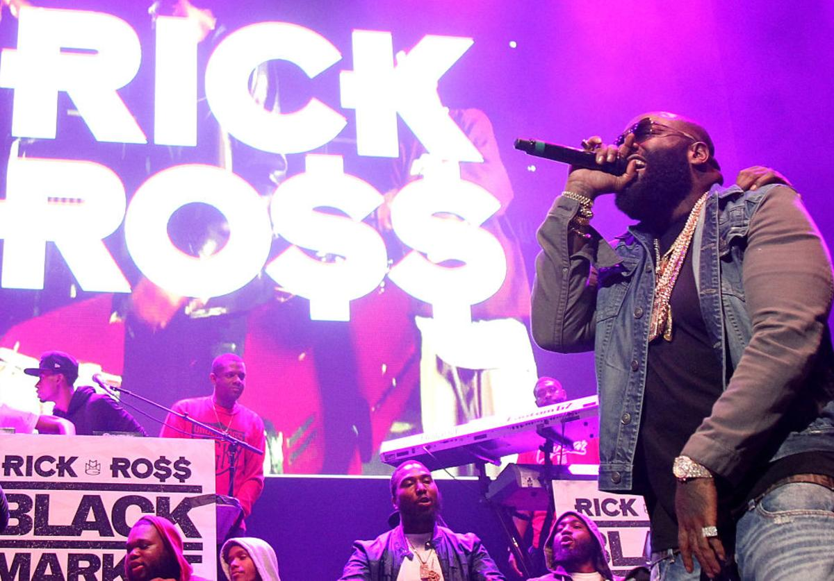 Rick Ross performs onstage during 105.1's Powerhouse 2015 at the Barclays Center on October 22, 2015 in Brooklyn, NY.