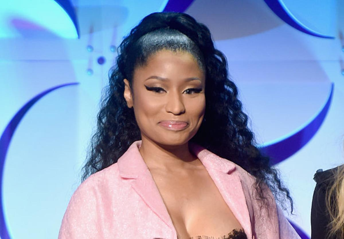 Nicki Minaj speaks onstage at the Tidal launch event #TIDALforALL at Skylight at Moynihan Station on March 30, 2015 in New York City.