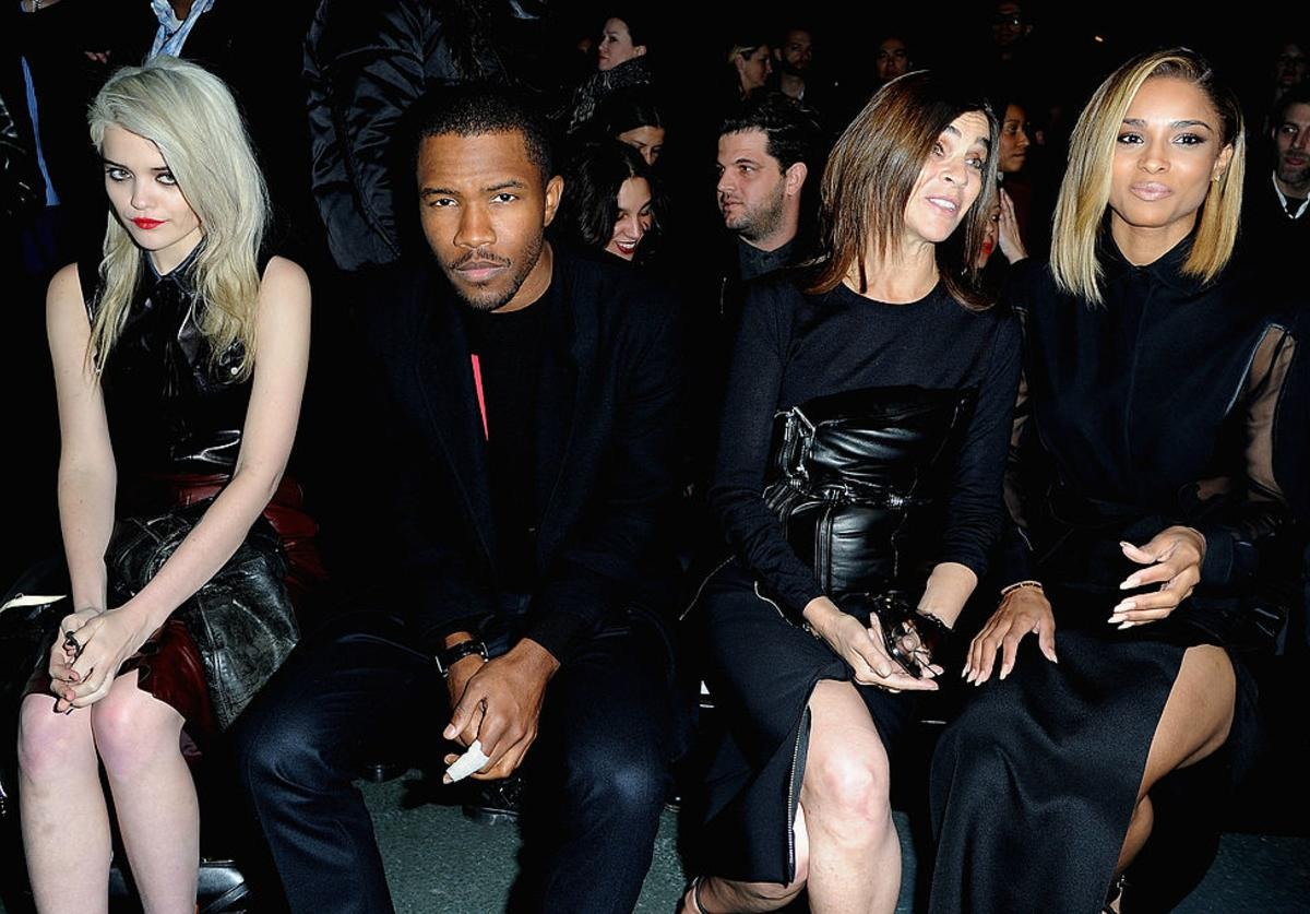 Sky Ferreira, Frank Ocean, Carine Roitfeld and Ciara attend Givenchy Fall/Winter 2013 Ready-to-Wear show as part of Paris Fashion Week on March 3, 2013 in Paris, France.