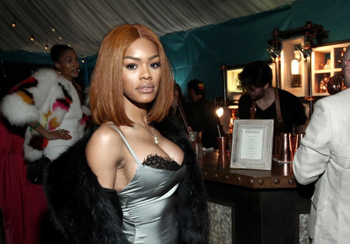 Teyana Taylor attends the Def Jam Toasts The Grammys at the Private Residence of Jonas Tahlin, CEO Absolut Elyx on February 12, 2017 in Los Angeles, California.