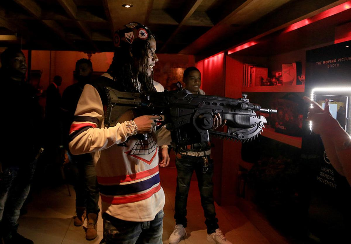 Fetty Wap attends Carmelo Anthony Xbox & Gears Of War 4 event at The Microsoft Loft on October 6, 2016 in New York City.