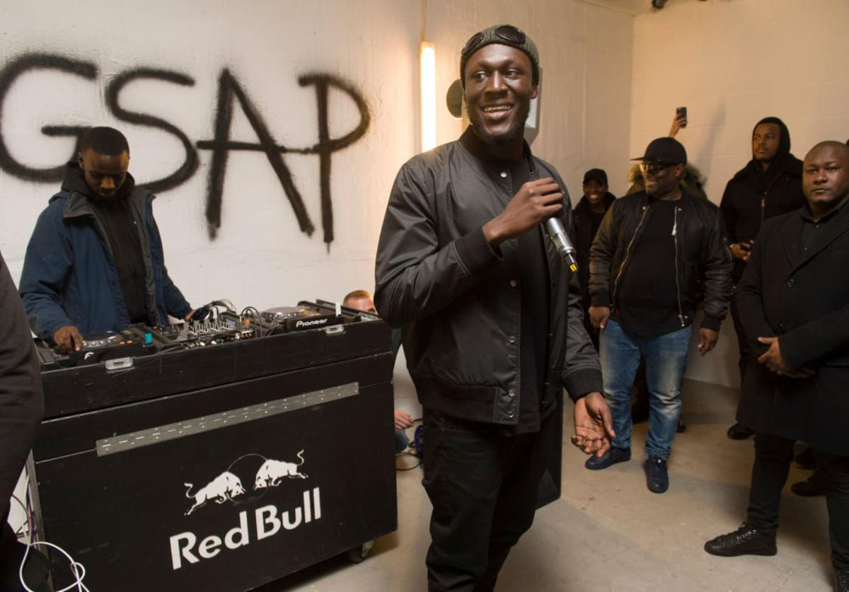 Stormzy performs pop up gig in central London on GSAP album release day on February 24, 2017 in London, England.