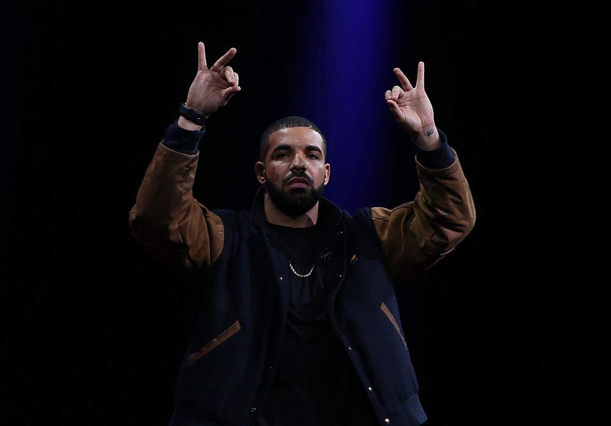 Drake speaks about Apple Music during the Apple WWDC on June 8, 2015 in San Francisco, California. Apple annouced a new OS X, El Capitan, iOS 9 and Apple Music during the keynote at the annual developers conference that runs through June 12.