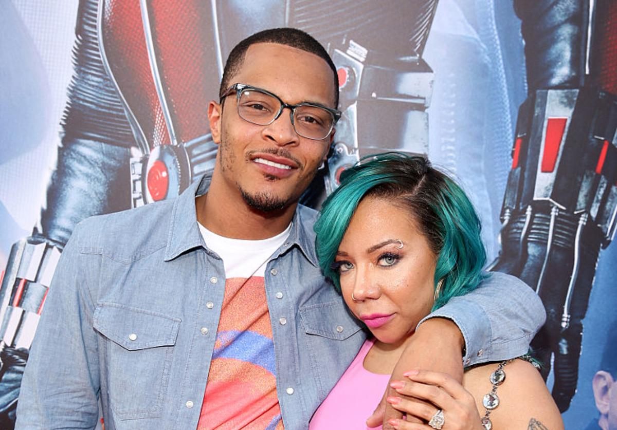 Tip 'T.I.' Harris (L) and singer Tameka 'Tiny' Cottle-Harris attend the world premiere of Marvel's 'Ant-Man' at The Dolby Theatre on June 29, 2015 in Los Angeles, California.