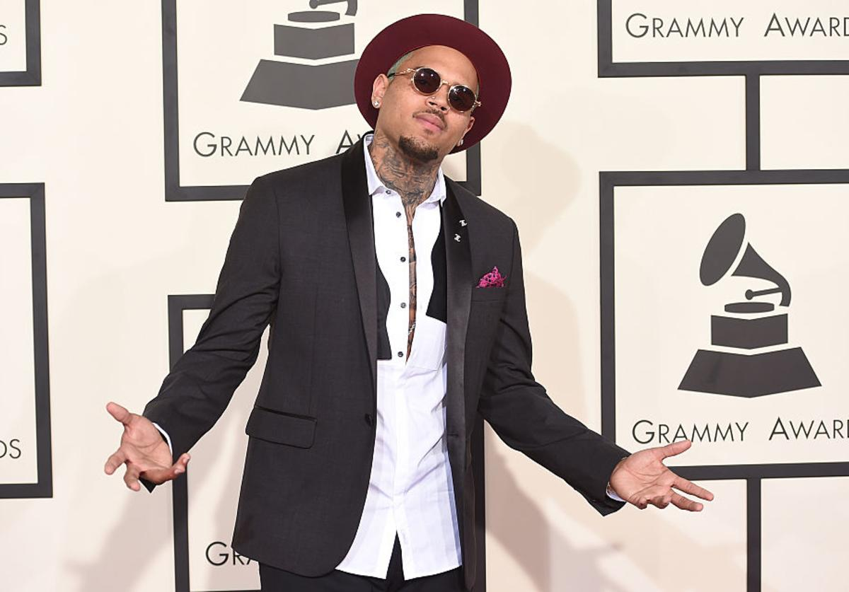 Singer Chris Brown attends The 57th Annual GRAMMY Awards at the STAPLES Center on February 8, 2015 in Los Angeles, California.
