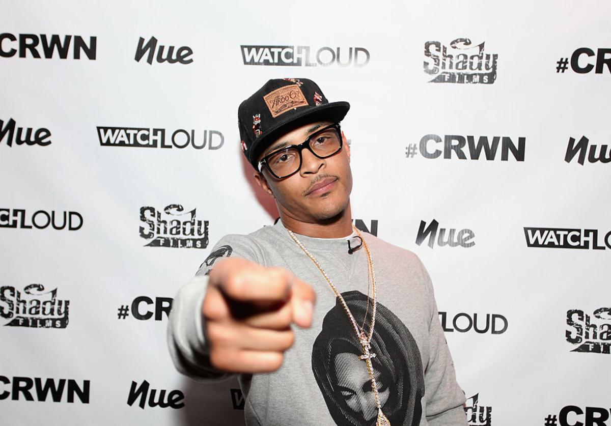 T.I. attends Elliott Wilson Hosts CRWN With T.I. For WatchLOUD.com Presented By Footaction at Gramercy Theatre on October 28, 2014 in New York City.