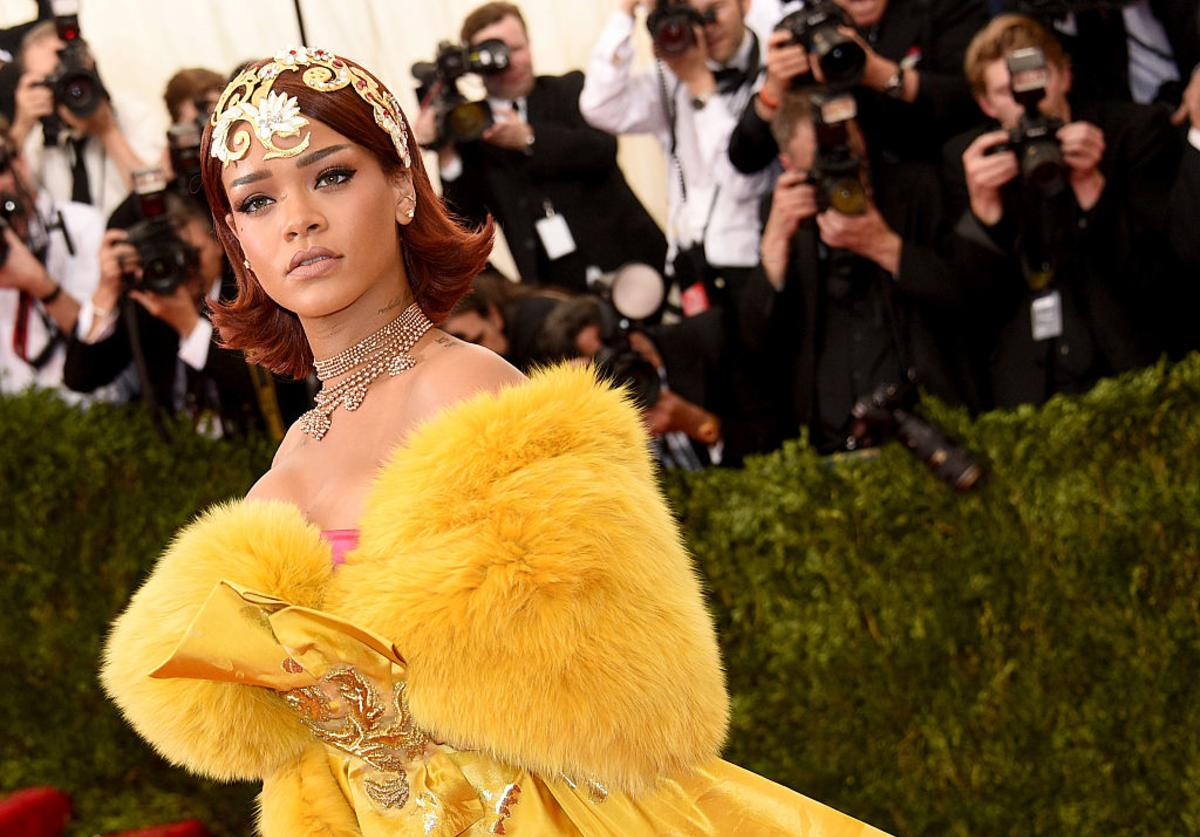 Rihanna attends the 'China: Through The Looking Glass' Costume Institute Benefit Gala at the Metropolitan Museum of Art on May 4, 2015 in New York City.
