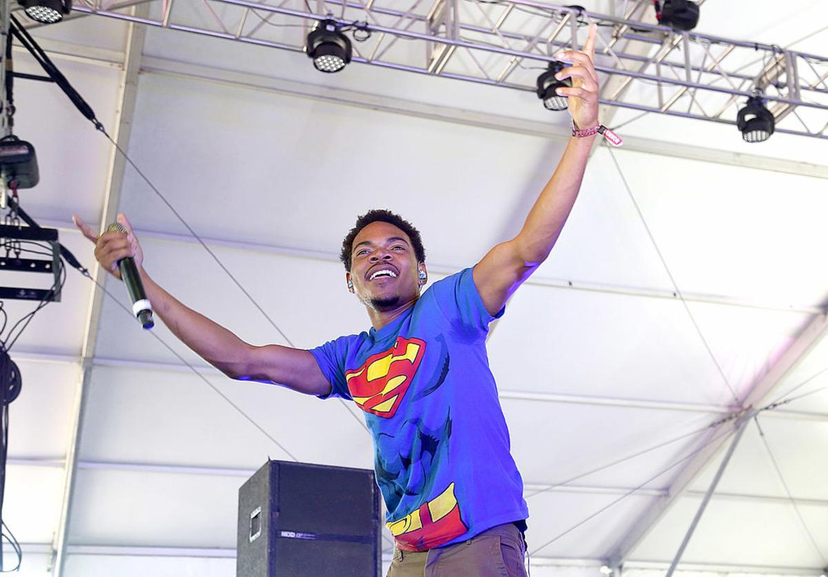 Chancelor Bennett aka Chance The Rapper performs during the 2014 Governors Ball Music Festival at Randall's Island on June 7, 2014 in New York City.