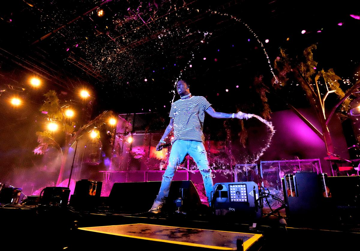 Travis Scott performs at 2017 Coachella Valley Music And Arts Festival