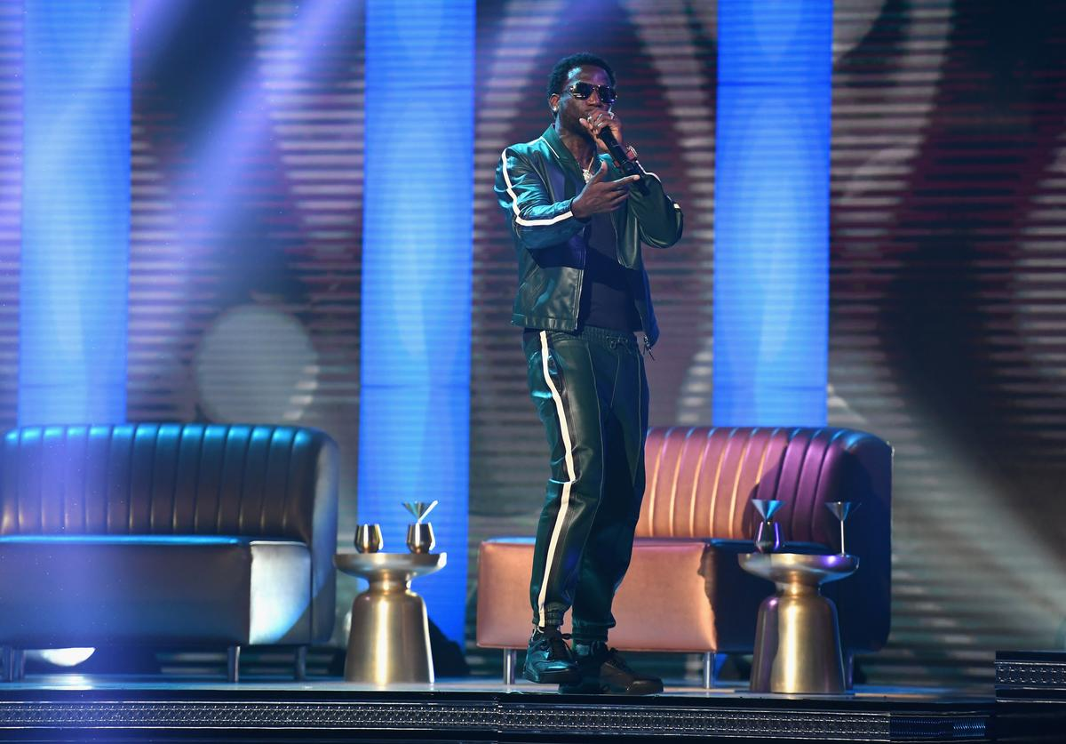 Gucci Mane performs onstage at 2017 BET Awards