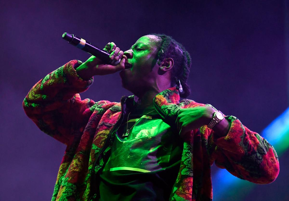 Joey Badass performs on Flog Stage during day two of Tyler, the Creator's 5th Annual Camp Flog Gnaw Carnival