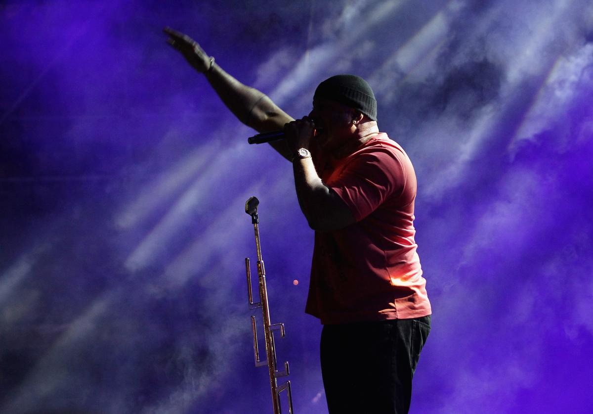 LL Cool J performs on stage at The 12th Annual Jazz In The Gardens Music Festival