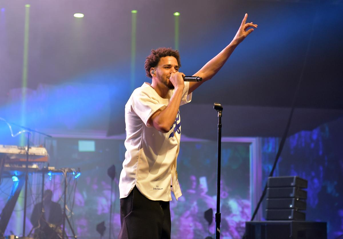 Recording artist J. Cole performs during ESPN the Party at WestWorld of Scottsdale