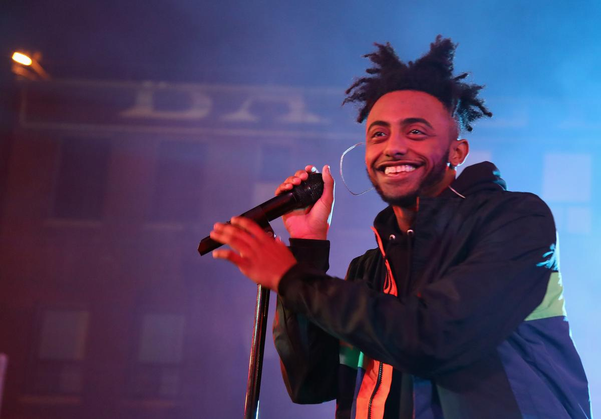 Amine performs onstage at MTV's 'Wonderland' LIVE Show