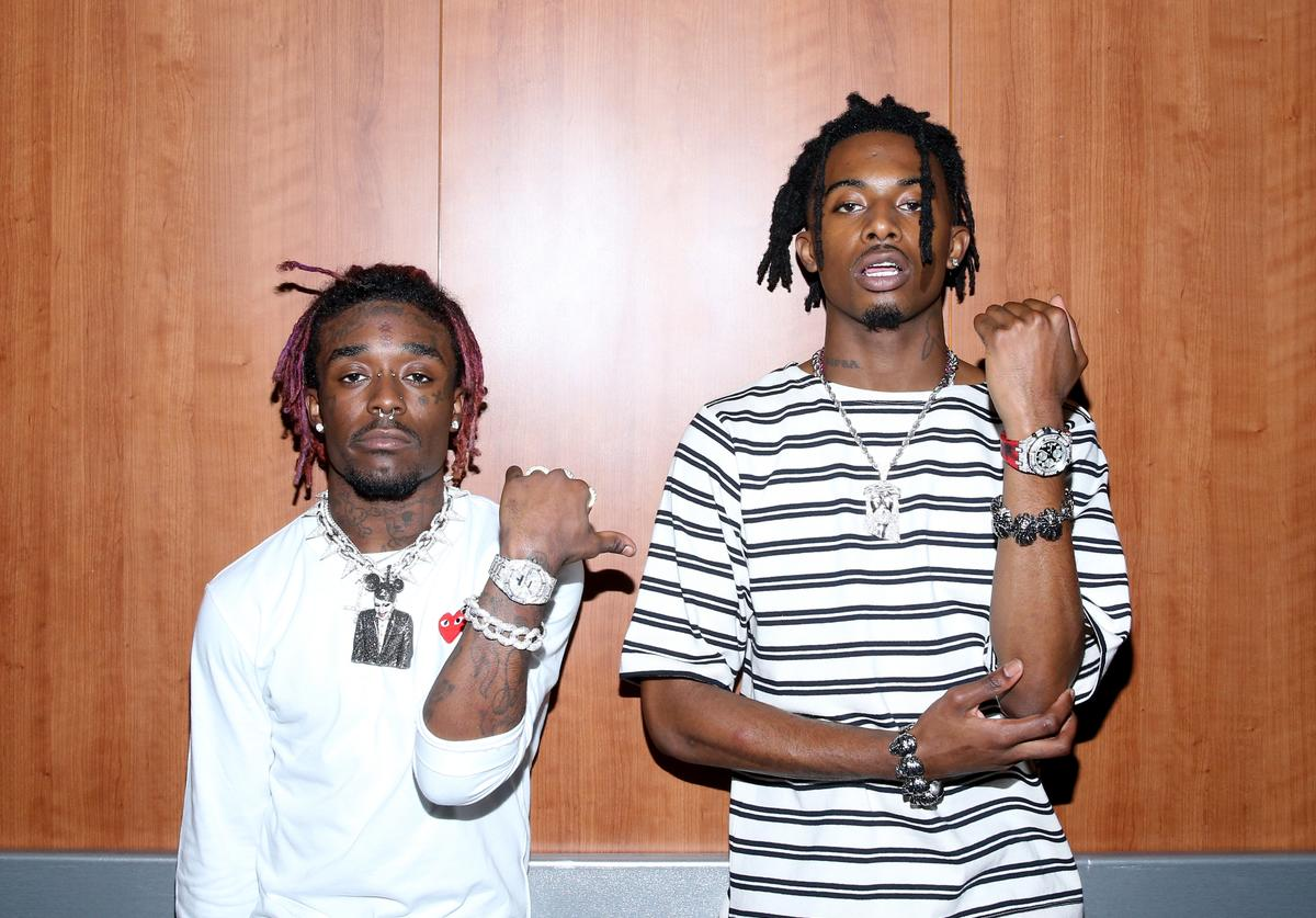 Recording artists Lil Uzi Vert (L) and Playboi Carti perform at night one of the 2017 BET Experience STAPLES Center Concert, sponsored by Hulu, at Staples Center on June 22, 2017 in Los Angeles, California