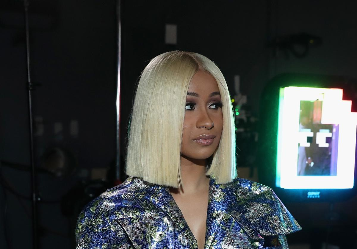 Cardi B backstage at the 2017 BET Awards at Microsoft Theater on June 25, 2017 in Los Angeles, California.