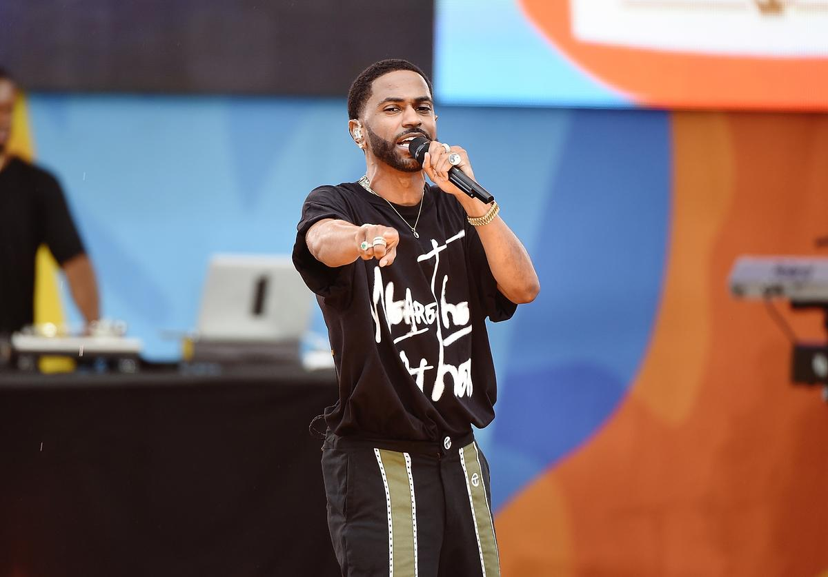 Rapper Big Sean Performs On ABC's 'Good Morning America' at Rumsey Playfield on July 7, 2017 in New York City.