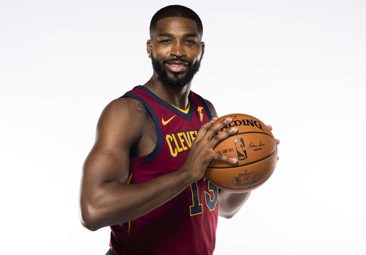 Tristan Thompson #13 of the Cleveland Cavaliers at Cleveland Clinic Courts on September 25, 2017 in Independence, Ohio.