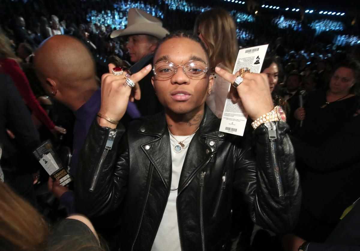 Hip-Hop Artist Swae Lee of Rae Sremmurd during The 59th GRAMMY Awards at STAPLES Center on February 12, 2017 in Los Angeles, California.