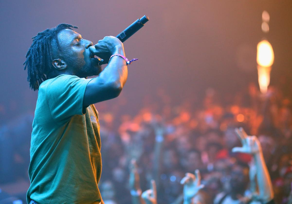 Isaiah Rashad performs onstage during the 2017 Panorama Music Festival at Randall's Island on July 28, 2017 in New York City.
