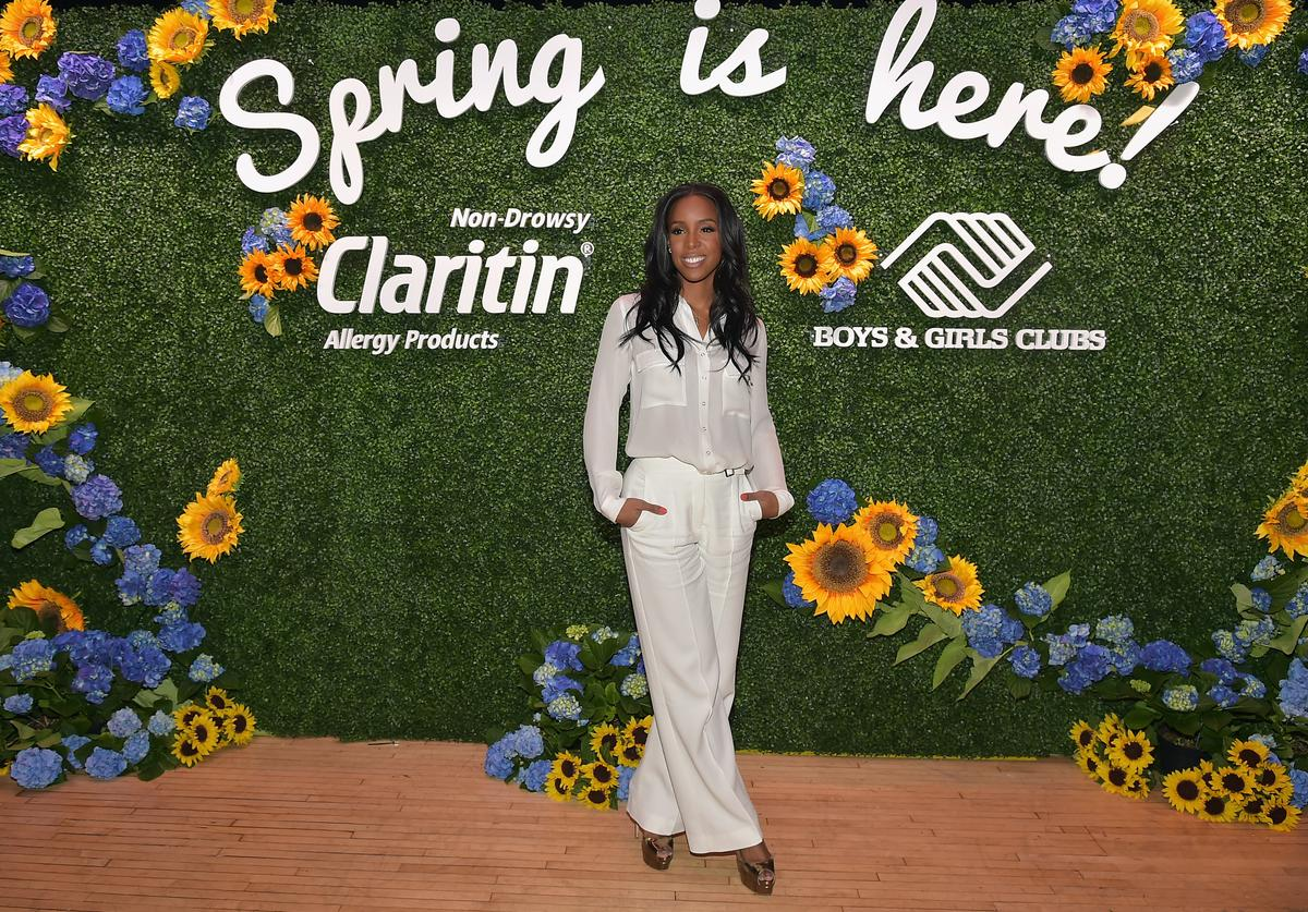 Grammy Award-Winning superstar and allergy sufferer Kelly Rowland at the Claritin and Boys & Girls Club kickoff event in New York City, celebrating program to make over outdoor spaces across the country on March 21, 2016 in New York City.