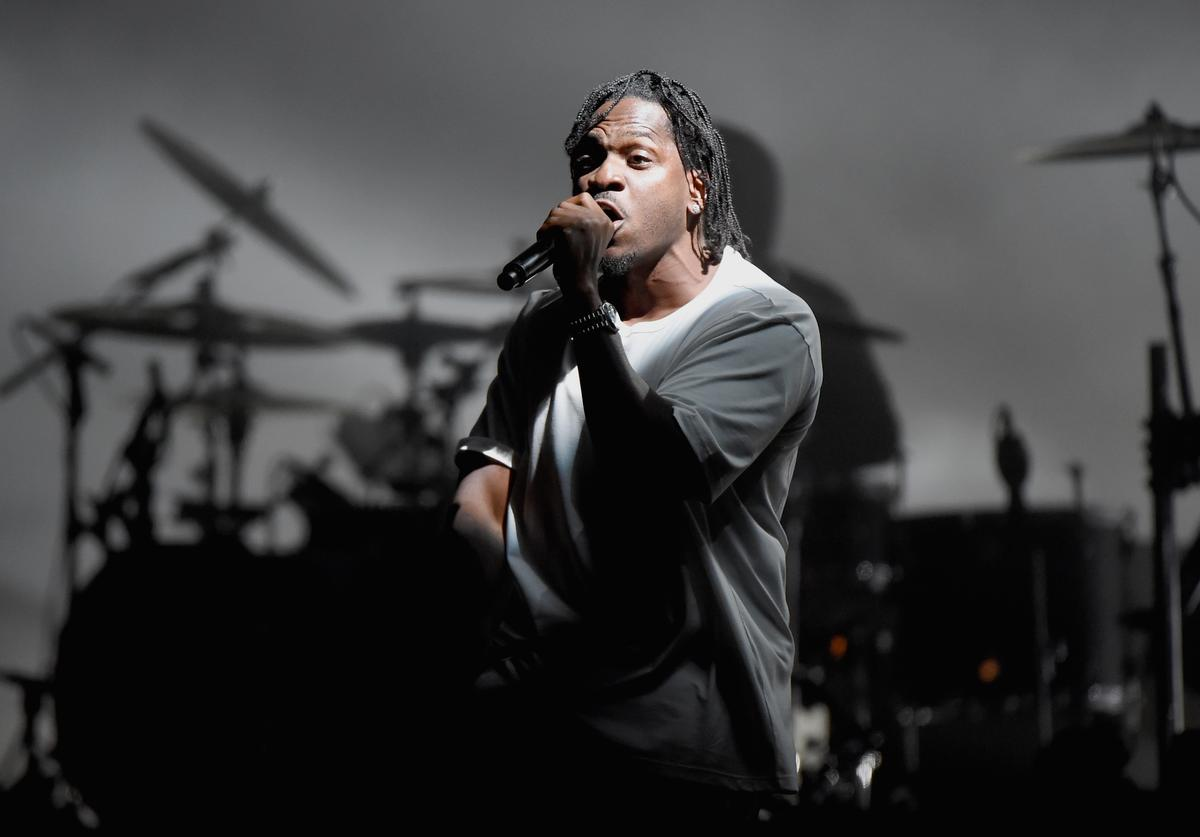 Pusha T performs onstage with the Gorillaz during the Meadows Music and Arts Festival - Day 2 at Citi Field on September 16, 2017 in New York City.