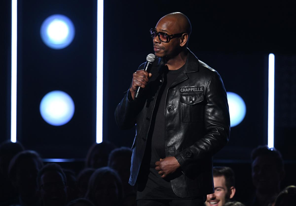 Comedian Dave Chappelle speaks onstage during the 60th Annual GRAMMY Awards at Madison Square Garden on January 28, 2018 in New York City.