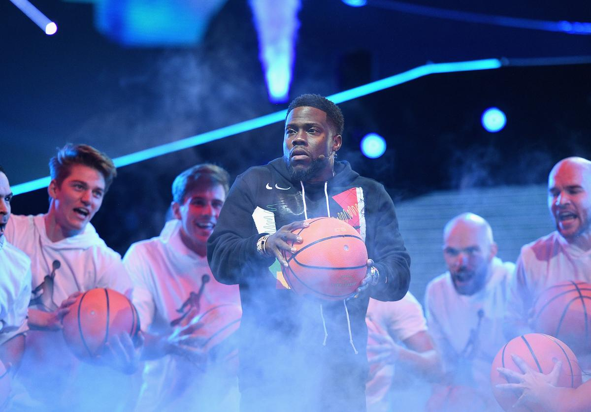Kevin Hart at NBA All Star Game