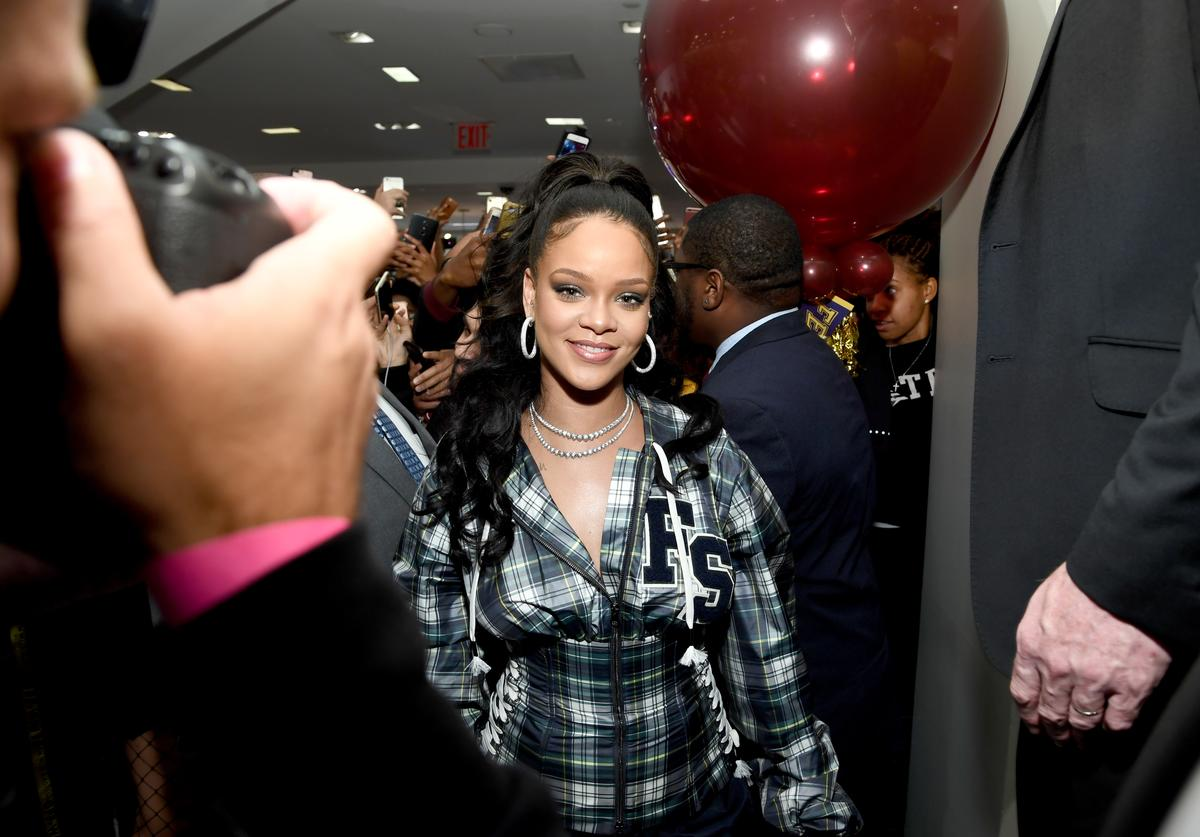 Rihanna hosts a pep rally to celebrate the launch of the AW17 FENTY PUMA by Rihanna collection
