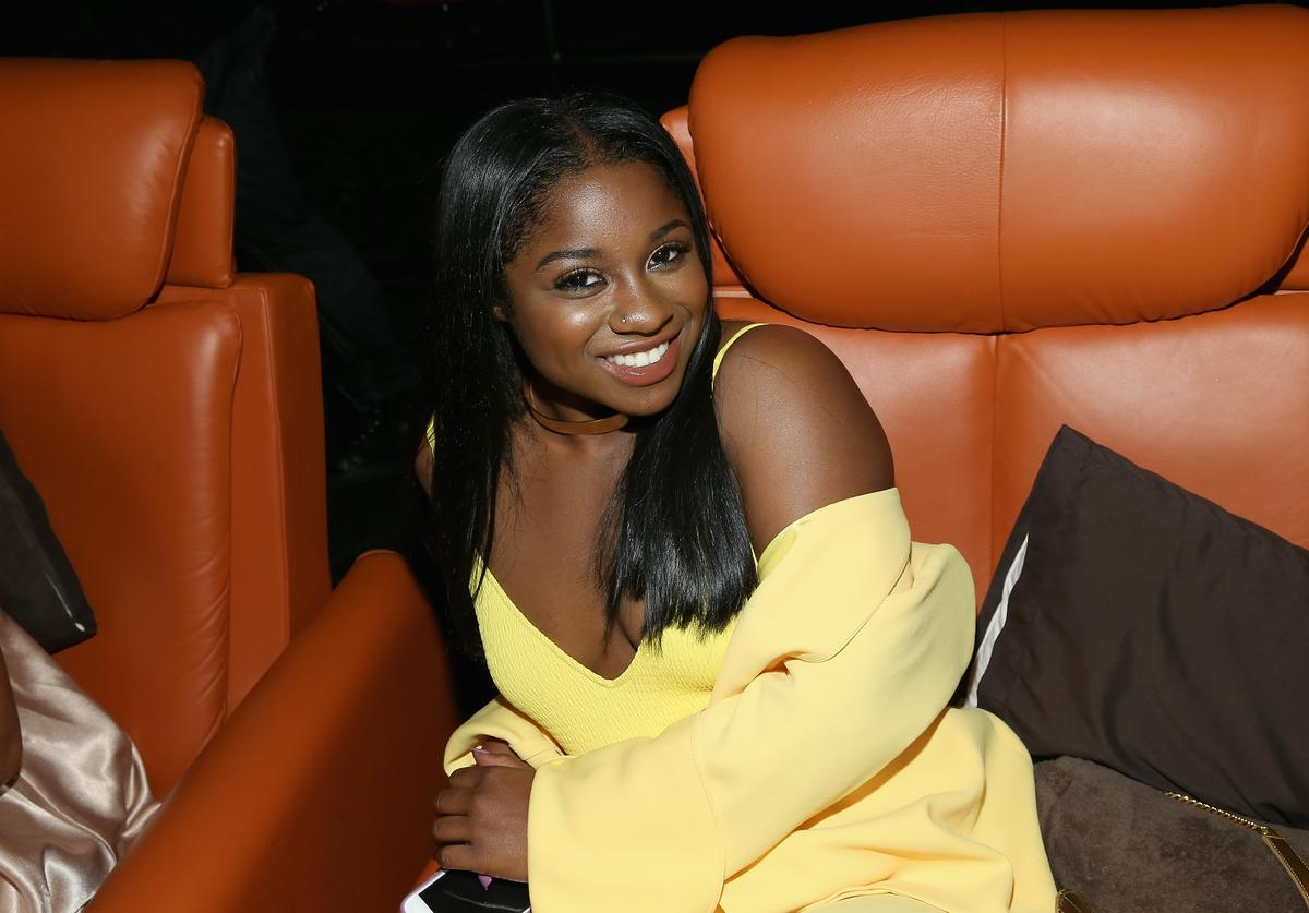 Reginae Carter attends the WE tv's Growing Up Hip Hop Atlanta premiere screening event
