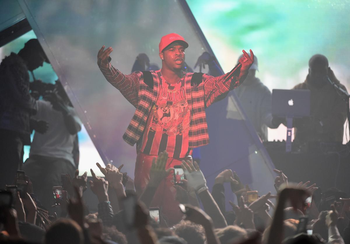 ASAP Ferg performs at Spotify's RapCaviar Live in New York at Hammerstein Ballroom on November 21, 2017 in New York City