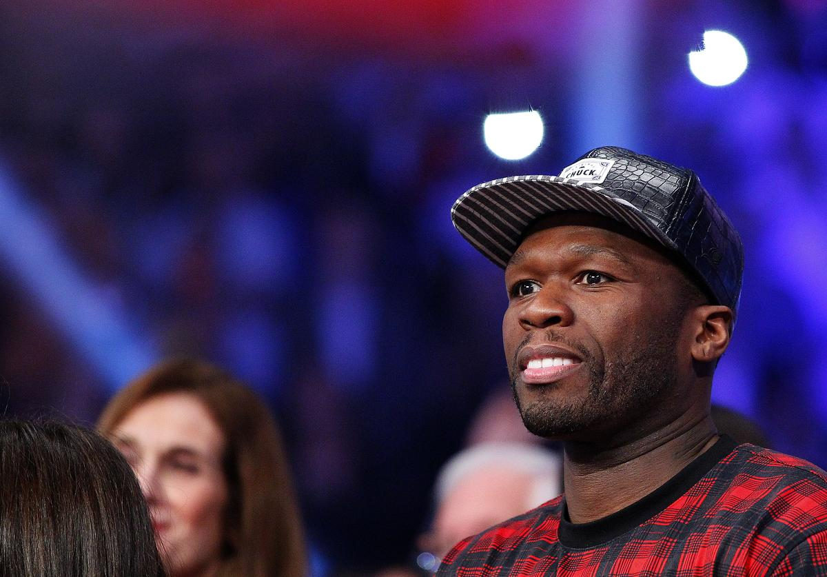 50 Cent attends the fight between Miguel Cotto and Sergio Martinez on June 7, 2014 at Madison Square Garden in New York City